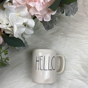 Rae Dunn White Ceramic Hello 12oz. Coffee Mug NWOT